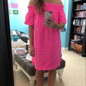 VINEYARD VINES Off the Shoulder Madison Dyed Dress